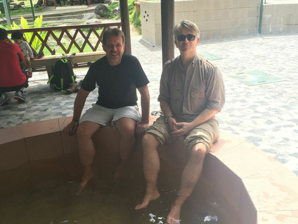 at the hotsprings with a guy that was on the tour
