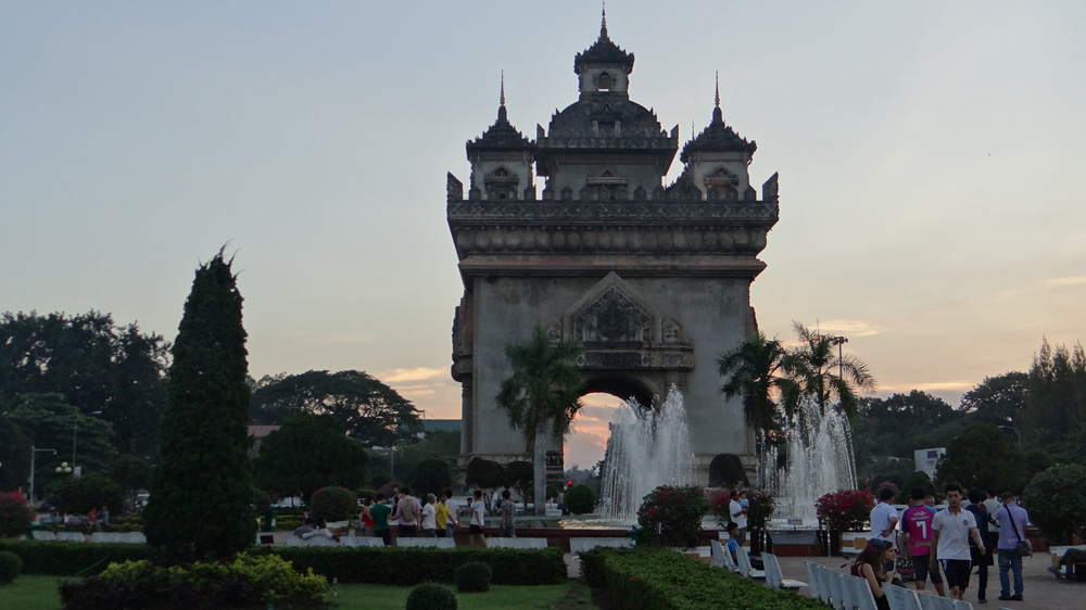 Patuxai Arch from the reverse side.