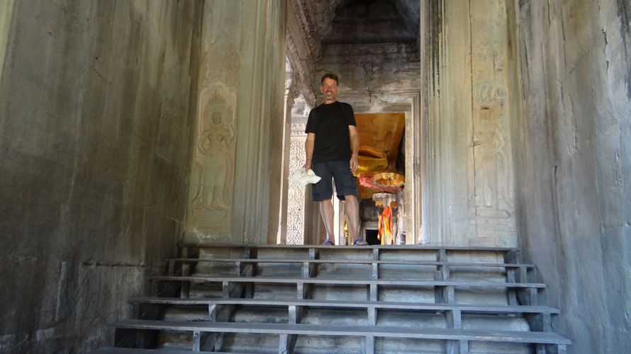 Obligatory photo of me at the main site, Angkor Wat.