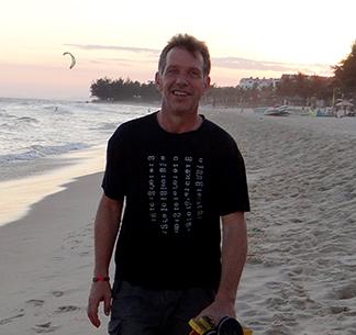 ken curtis on the beach