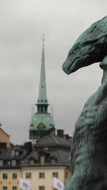 Statue in Stockholm, Ken Curtis Summer 2010