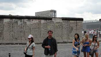Kenneth Curtis in front of the Berlin Wall, 2010