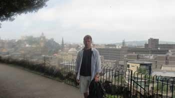 Me, Edinburgh, Scotland Ken curtis' summer trip 2010