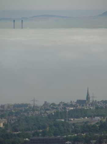 clouds blocking the view in Edinburgh, Scotland Ken curtis' summer trip 2010