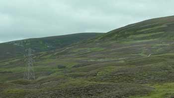 Scottish Highlands image from bus