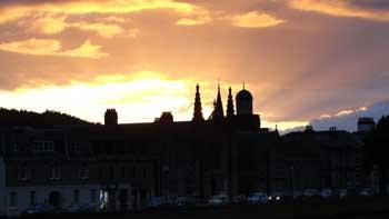 Sunset over Inverness Scotland
