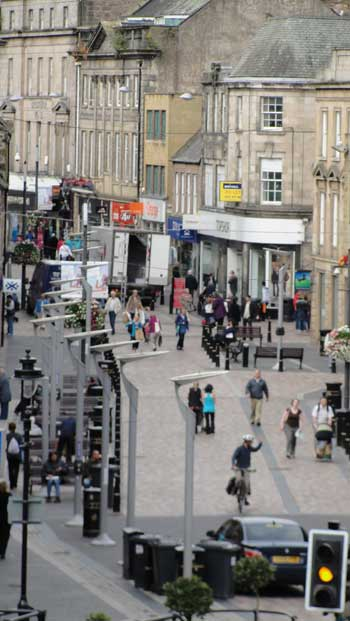 main street in old town of Inverness, Scotland